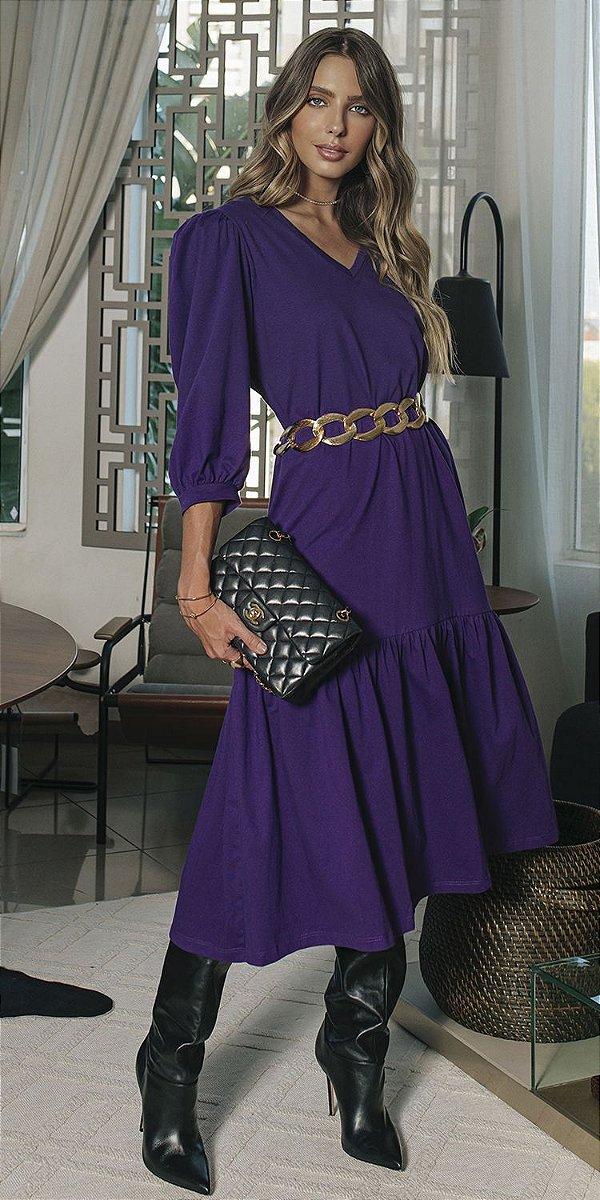Vestido Malha Decote V Marília | DNA BLESSED