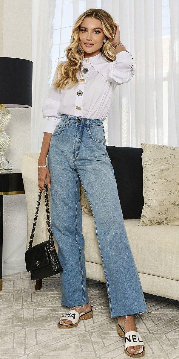 Calça Jeans Basic Reta Cinthia | DNA BLESSED