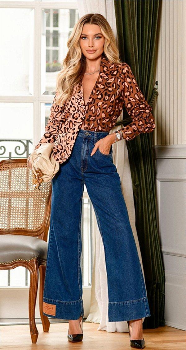 Calça Jeans Wide Leg Andrea | DNA BLESSED