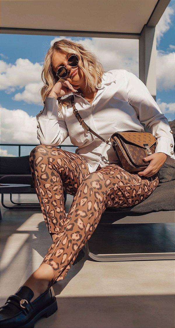 Legging Onça C/ Pezinho Karina | DNA BLESSED