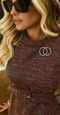 Colete Tweed Amanda C/ Broche | DNA BLESSED