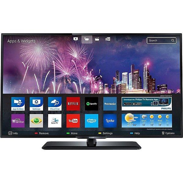 Smart TV LED 43 Philips Full HD c/ Conversor Digital 3 HDMI 1 USB Wi-Fi 120Hz