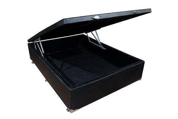 Cama Box Brasil Bau 138x188x40cm Suede