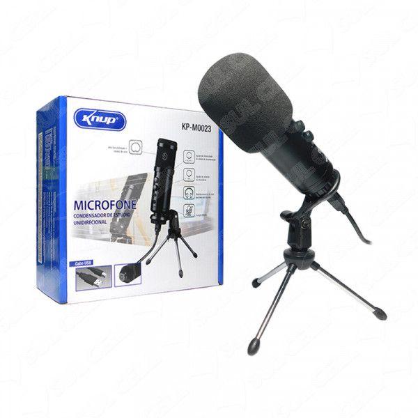Microfone Condensador de Estudio Unidirecional c/ Tripe Pc (KP-M0023) FS