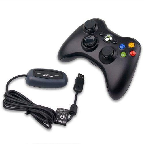 CONTROLE X BOX 360 ORIGINAL + ADPTADOR USB P/ PC