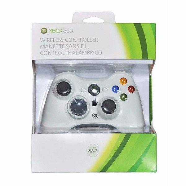 CONTROLE X BOX 360 COM FIO BRANCO