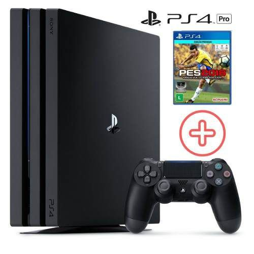 PLAYSTATION 4  PRO 4K  HD 1 TERA + PES 18