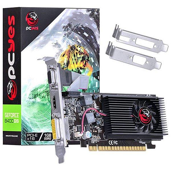 PLACA DE VÍDEO PCYES GEFORCE 8400GS 1GB DDR2 64 BITS