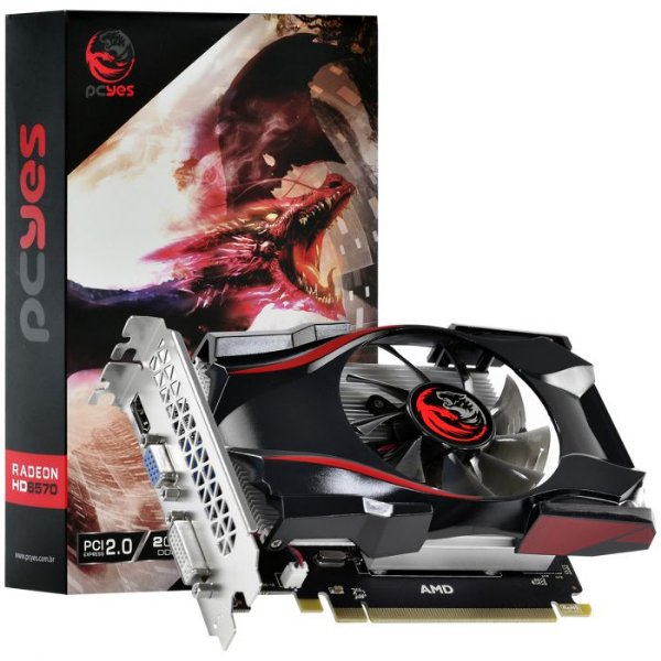 PLACA DE VIDEO AMD RADEON 6570 2GB GDDR5 128 BITS GAMING EDITION - PJ65702DR5128-FO