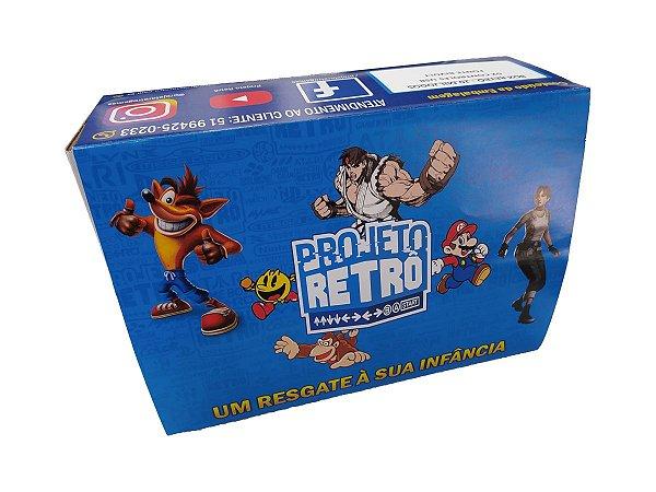 Box Projeto Retro Light 3800 Jogos + 2 Controles - Console Retrô