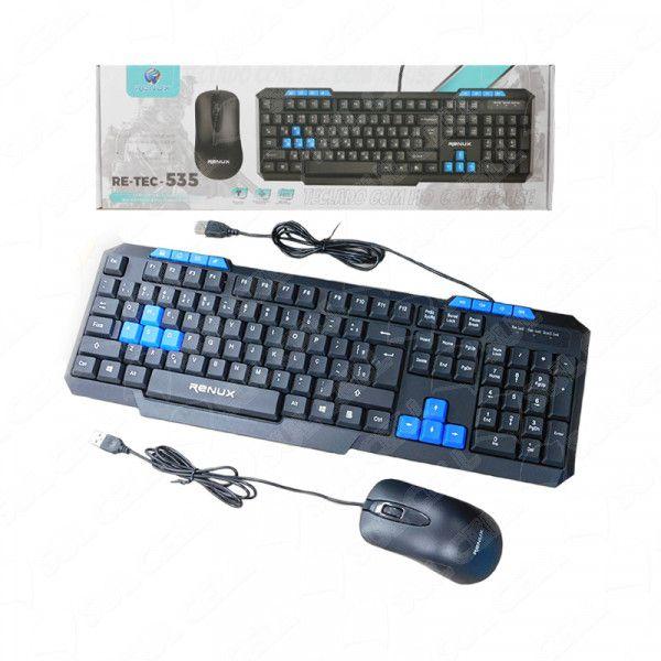 Teclado e Mouse com Fio Usb (RE-TEC-535) S