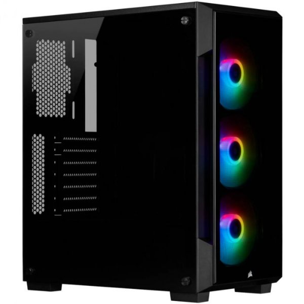 GABINETE ATX MID TOWER - CRYSTAL SERIES 220T RGB BLACK - CC-9011190-WW- O