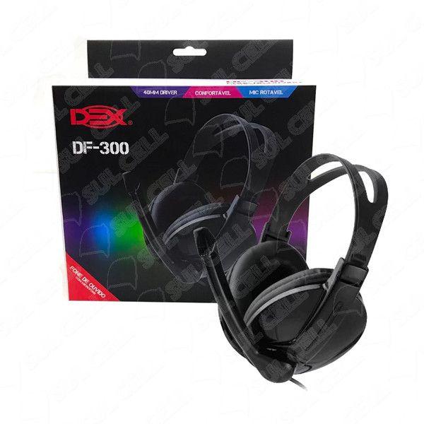 Fone de Ouvido Arco Headset c/ Microfone p/ Pc (DF-300)-S