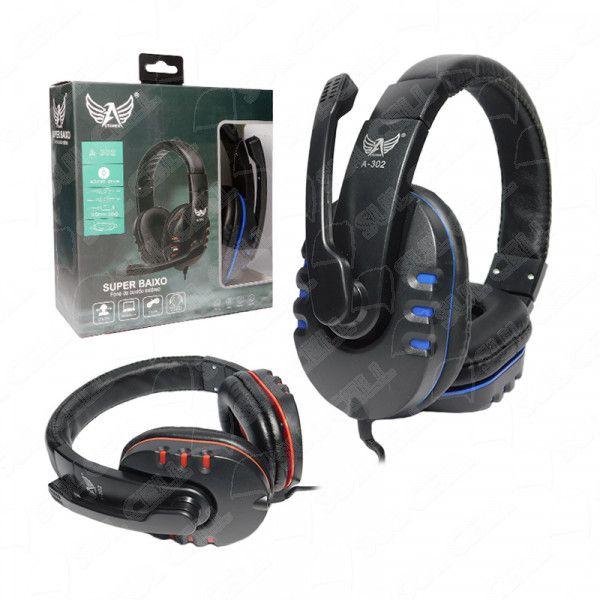 Fone de Ouvido Headset Gamer P2 c/ Microfone (A-302)