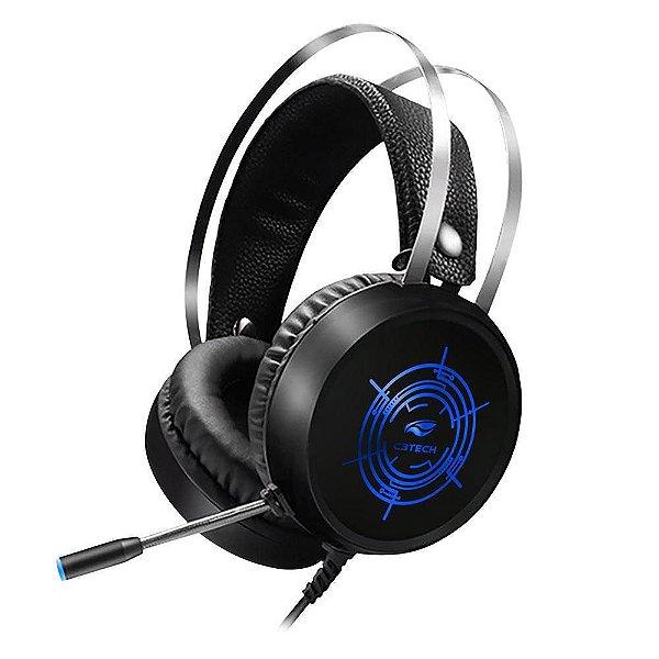 HEADSET GAMER ESTEREO HARRIER PRETO LED RGB PH-G330BKV2 USB C3 TECH-B