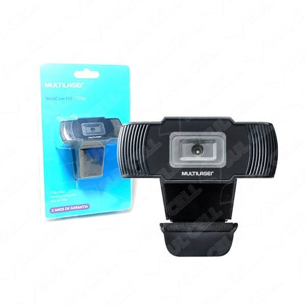 Webcam Hd 720p 30fps c/ Microfone Integrado Usb (AC339)
