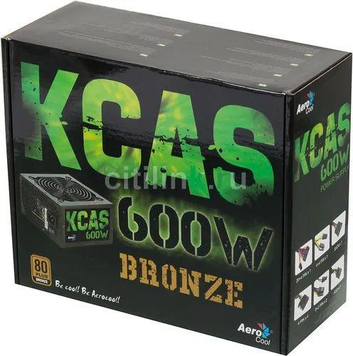 FONTE ATX 600W REAIS 80Plus BRONZE KCAS-600W 64802 AEROCOOL