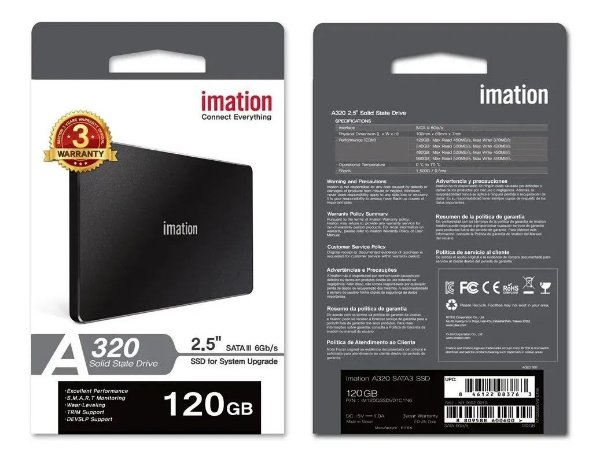 "SSD 120GB 2,5"" SATA 6 Gb/s A320 50000024 IMATION"