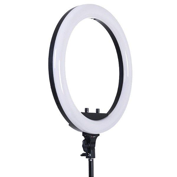 "Iluminador Circular Led Ring Light Tolifo 19"" Bi-Color 60W Profissional (Fonte Bivolt)"