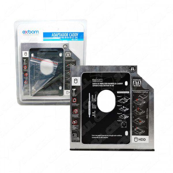 Case Caddy Gaveta p/ Segundo HD/SSD 2,5 no DVD 9,5mm (HDCA-S095)-FS
