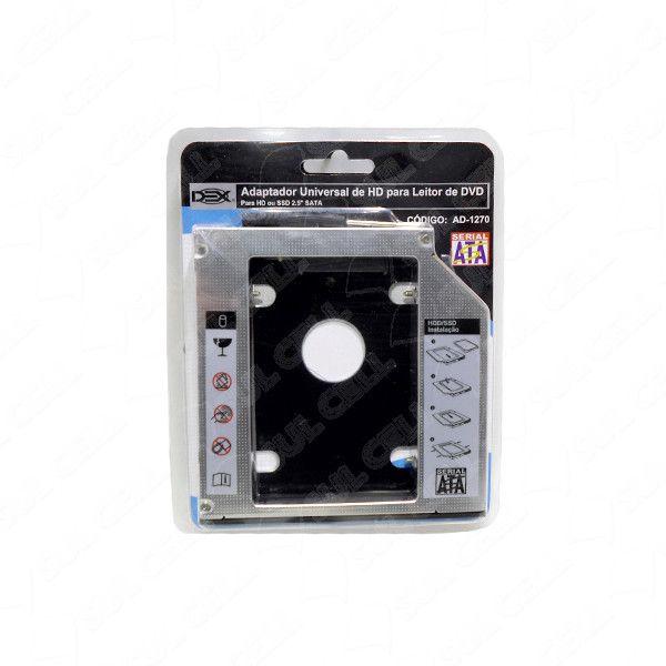 Case Caddy Gaveta p/ Segundo HD/SSD no DVD 12,7mm (AD-1270)-FS