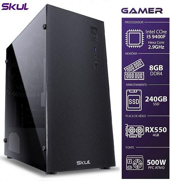 PC GAMER 5000 - I5 9400F 2.9GHZ 9ª GER. MEM. 8GB DDR4 SSD 240GB RX 550 4GB FONTE 500W-FO