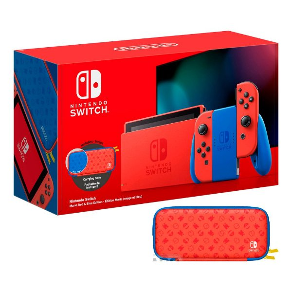 Console Nintendo Switch 32GB Mario Red e Blue Edition (extend battery) - Nintendo