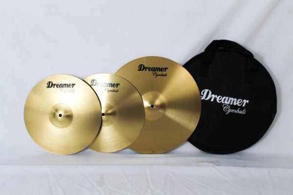 Kit de Pratos Dreamer Cymbals Brass 13/16 c/ Bag