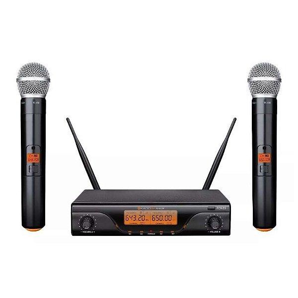 Sistema de Microfone sem Fio Kadosh K-412M