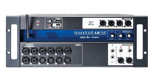 Mesa de Som Digital Soundcraft 16 Canais - UI16 - Original Harman