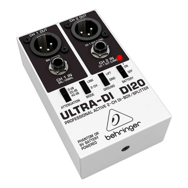 Direct Box Behringer Ultra-DI DI20 - 2 Canais