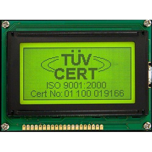 Display LCD gráfico 128X64, Fundo Verde e Backlight - AGM-12864A-201