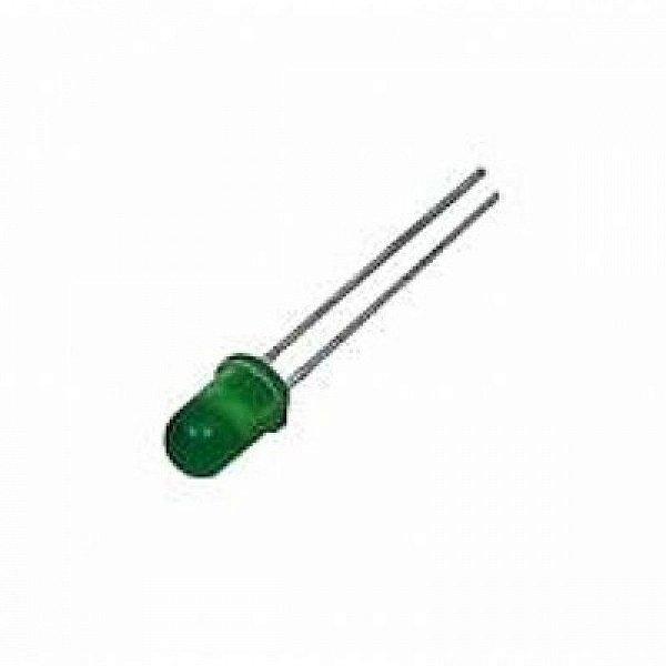 Led Difuso Verde 5mm - Pacote com 10 unidades
