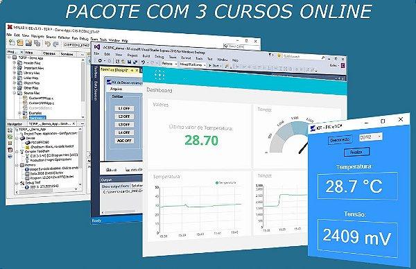 3 Cursos Online - Criação de Supervisórios + Linguagem C (PIC18F) + IOT Com PIC