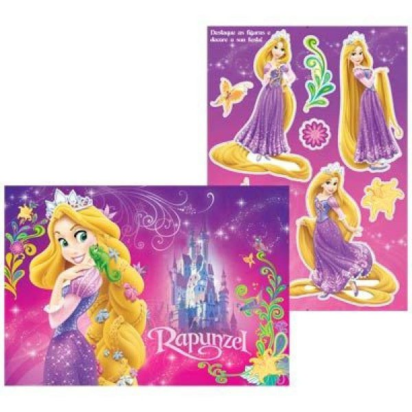 Kit Painel Decorativo Cartonado Rapunzel Disney - Enrolados