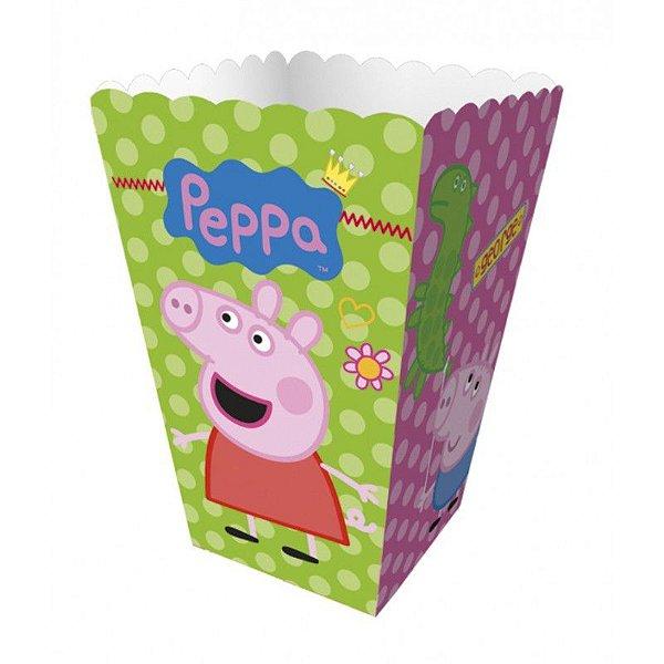 Mini Caixa Para Pipoca - Peppa Pig - 08 unidades