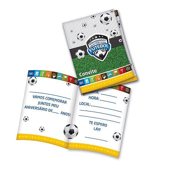 Convite - Apaixonados Por Futebol - 08 unidades