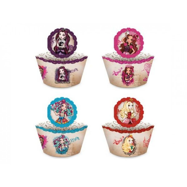 Kit Saia para Cupcake - Ever After High - 05 pacotes