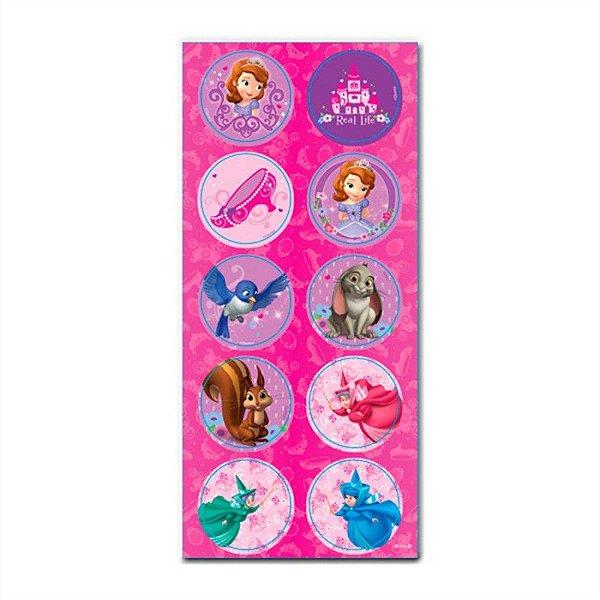 Adesivo Decorativo Princesinha Sofia- 3 cartelas