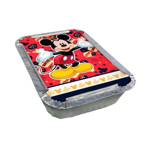 Marmitinha com Tampa Mickey Mouse - 8 unidades