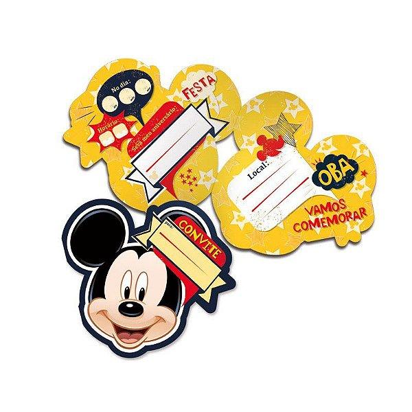 Convite - Mickey Mouse - 08 unidades