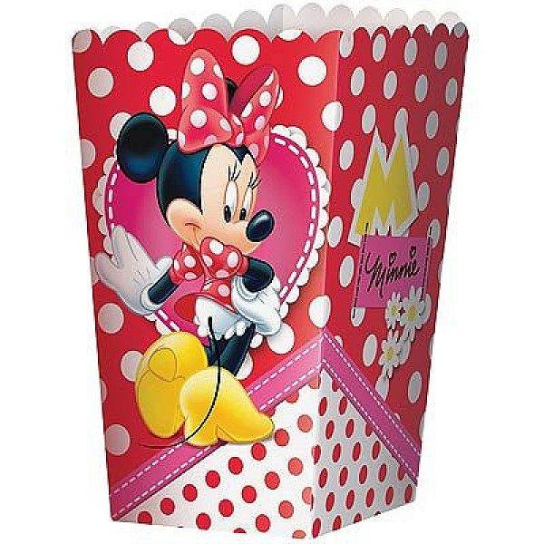 Caixa Para Pipoca - Minnie Vermelha - 08 unidades