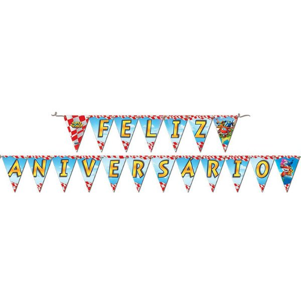 Faixa Feliz Aniversário - Super Wings