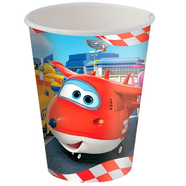 Copo de Papel 200ml - Super Wings - 08 unidades