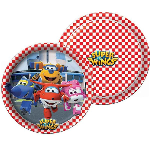 Prato de Papel - Super Wings - 08 unidades