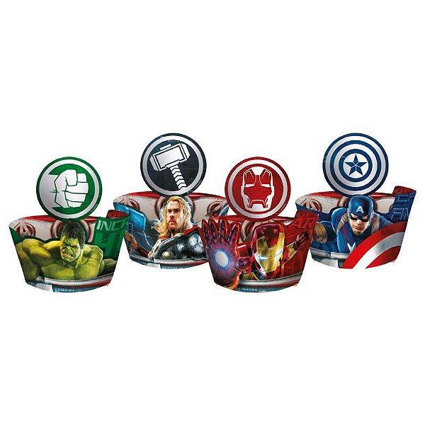 Saia para Cupcake Wrapper e Enfeite Os Vingadores