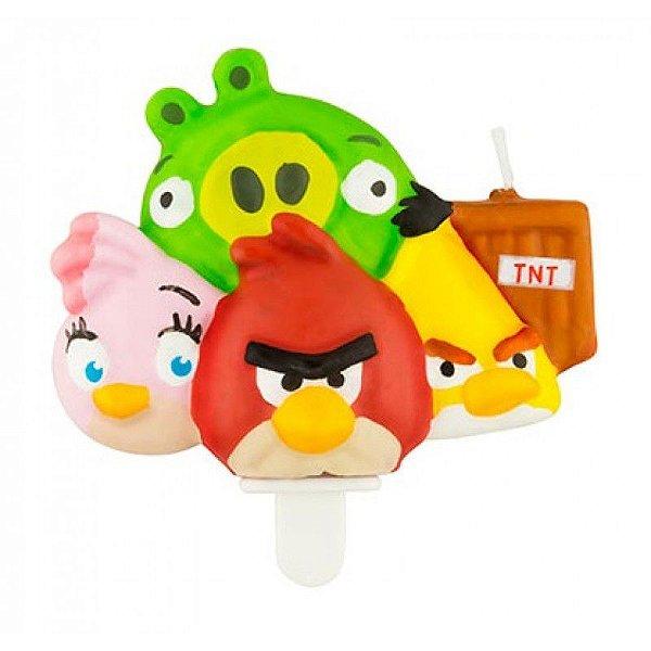 Vela de Aniversário 3d Angry Birds