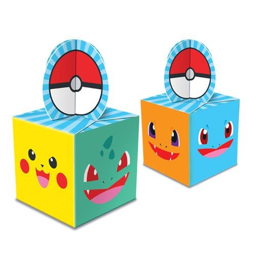 Caixa Para Lembrancinhas - Pocket Monsters - 08 unidades