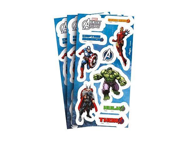 Adesivo para Lembrança - Vingadores Animated - 04 cartelas