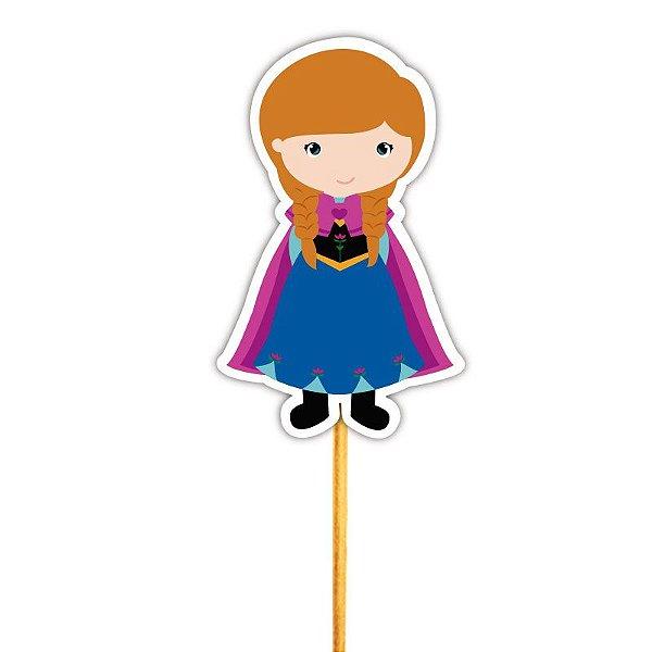 Enfeite para Cupcake Princesa Ana